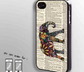 colorful elephant on Dictionary - hard case cover for iphone 4/4s also iphone 5