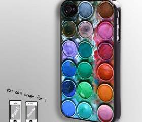 Paintbox Watercolour - hard case cover for iphone 4/4s also iphone 5