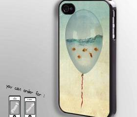 fish in Ballon - hard case cover for iphone 4/4s also iphone 5