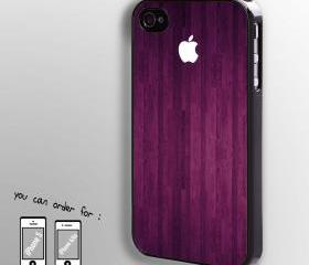 wooden case with apple logo - hard case cover for iphone 4/4s also iphone 5